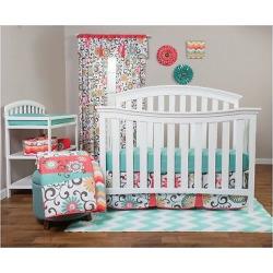 Waverly Baby by Trend Lab 3pc Crib Bedding Set – Pom Pom Play