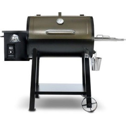 Wood Fired Deluxe Pellet Grill – Pit Boss, Black
