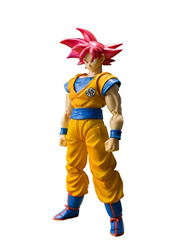 "Bandai Tamashii Nations S.H. Figuarts Super Saiyan God Son Goku ""Dragon Ball Super""  Action Figure"