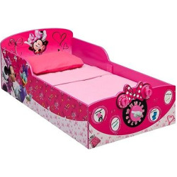 Disney Interactive Wood Toddler Bed Minnie – Delta Children, Pink