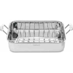 Cuisinart Chef's Classic Stainless Steel 16-in. Roasting Pan with Rack, Grey