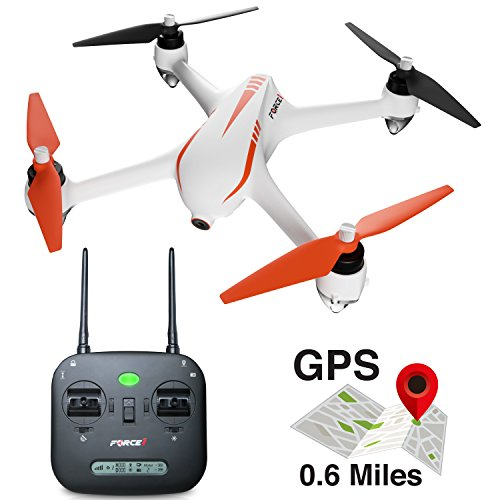 "Force1 Drones with Camera – ""MJX B2C Bugs 2 Specter"" 1080p Brushless GPS Drone with Camera + 2 RC Drone Batteries and Extra Camera Drone Propellers"