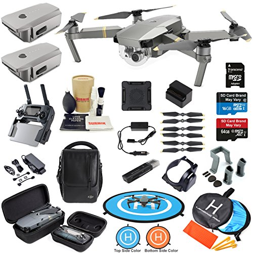 DJI Mavic PRO Platinum Drone Quadcopter Fly More Combo with 3 Batteries, 4K Professional Camera Gimbal Bundle Kit with MUST HAVE Accessories