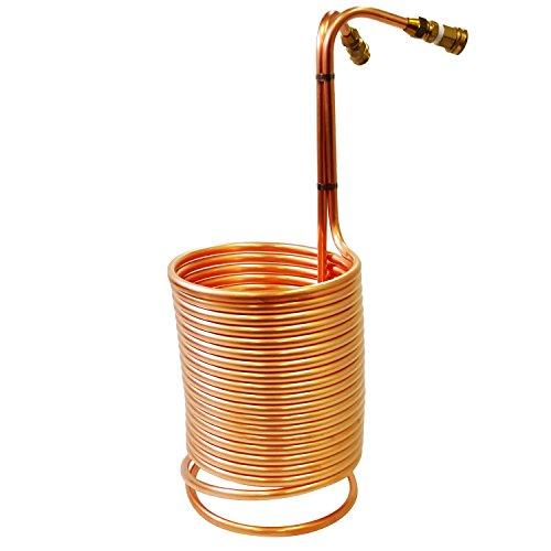 Heavy Duty 1/2″ x 50′ Copper Immersion Wort Chiller