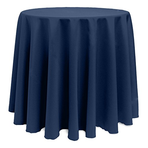 Ultimate Textile (5 Pack) 90-Inch Round Polyester Linen Tablecloth – for Wedding, Restaurant or Banquet use, Midnight