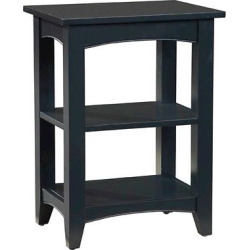 2-Shelf Side Table Hardwood Grayish Black – Alaterre Furniture, Blac/Gray
