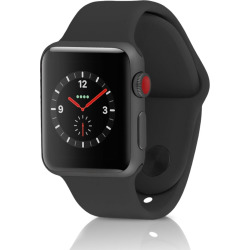 Apple Watch Series 3 Sport 38MM GPS + 4G Aluminum Space Gray Case – Black (Refurbished)