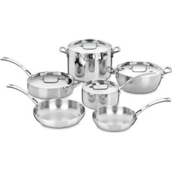 Cuisinart 10-pc. French Classic Tri-Ply Stainless Steel Cookware Set, Grey