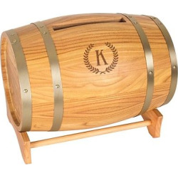 Wood Wine Barrel Card Holder – K
