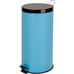 Honey-Can-Do 30 Liter Step Trash Can, Blue