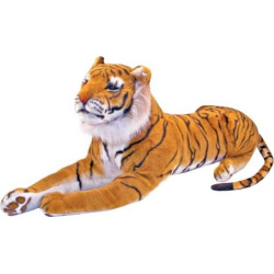 Melissa and Doug Tiger Plush Toy, Multicolor