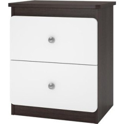 Coral Point Nightstand – Coffee House Plank/White – Ameriwood Home Furnishings, Brown/White