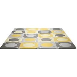 Skip Hop Playspot Interlocking Foam Tiles – Gold/Gray