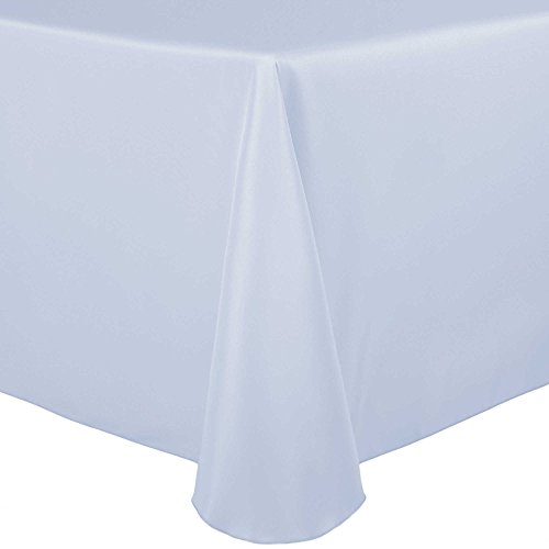 Ultimate Textile (5 Pack) 60 x 84-Inch Oval Polyester Linen Tablecloth – for Home Dining Tables, Ice Blue