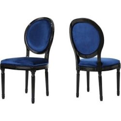 Camille New Velvet Dining Chair – Ice Blue (Set of 2) – Christopher Knight Home