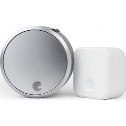 August Smart Lock Pro Connect Bundle, Silver