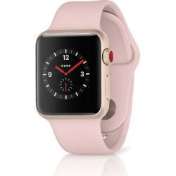 Apple Watch Series 3 Sport 38MM GPS + 4G Aluminum Rose Gold Case – Pink Sand (Refurbished)