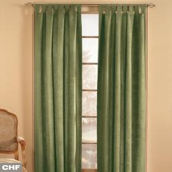 Window Curtainworks 1-Panel Microsuede Window Curtain, Green