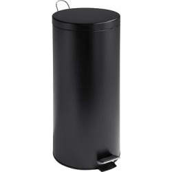 Honey-Can-Do 30 Liter Step Trash Can – Black