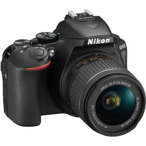 Nikon 1576 D5600 DX-format Digital SLR with AF-P DX NIKKOR 18-55mm f/3.5-5.6G VR Lens, Black