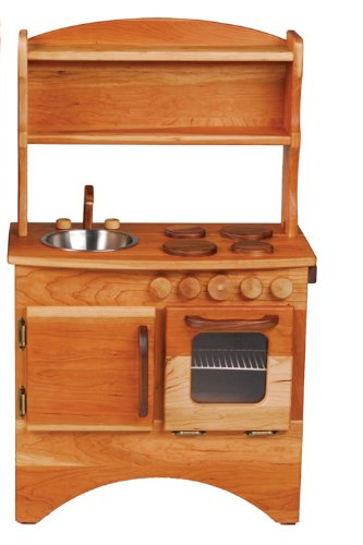 Camden Rose A Simple Hearth (Child's Cherry Wood Play Kitchen with Hutch)