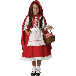 Girls' Little Red Riding Hood Elite Collection Child Costume – Medium(8-10), Size: M(8-10)