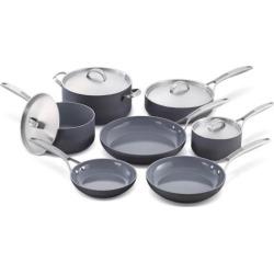 GreenPan Paris Pro 11-pc. Ceramic Nonstick Cookware Set, Grey