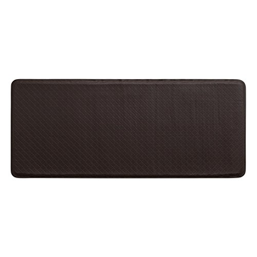 """GelPro Classic Anti-Fatigue Kitchen Comfort Chef Floor Mat, 20×48"""", Basketweave Truffle Stain Resistant Surface with 1/2"""" Gel Core for Health and Wellness"""