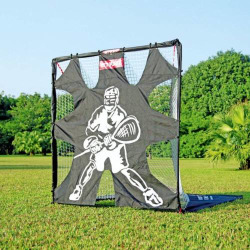 Net Playz 6'X6' Portable Fiberglass Lacrosse Goal with Target Panel, Multicolor