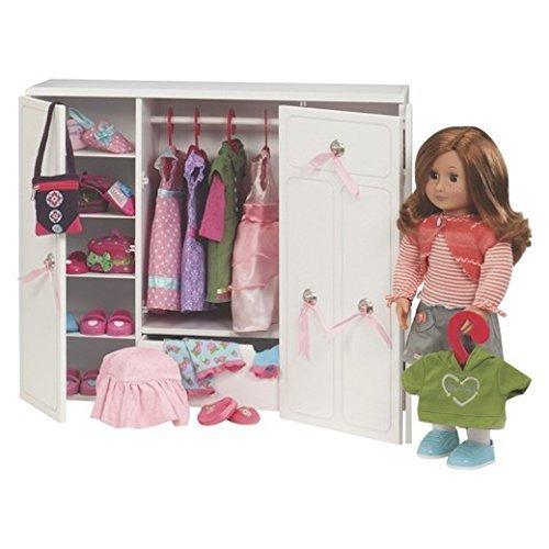 Our Generation Dolls Wooden Wardrobe Doll, 18″