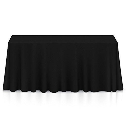 Lann's Linens – 10 Premium 90″ x 156″ Tablecloths for Wedding/Banquet/Restaurant – Rectangular Polyester Fabric Table Cloths – Black