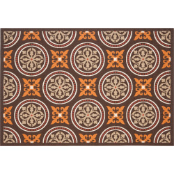 Safavieh Veranda Fleur-de-Lis Indoor Outdoor Rug, Brown