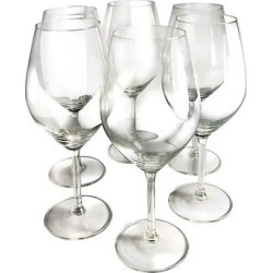 Epicureanist Illuminati Red Wine Glasses (Set of 6), Clear