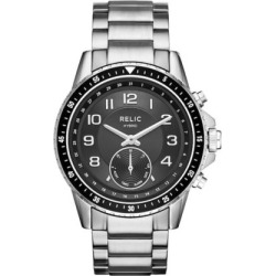 Relic Men's Duncan Connected Hybrid Stainless Steel Smart Watch – ZRT1007, Size: Large, Grey