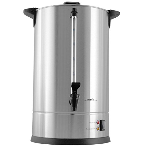 Cafe Amoroso 100 Cup Stainless Steel Coffee Urn – Premium Commercial Double Wall Design – Perfect For Catering, Churches, Banquets, Restaurants – 1 Year Warranty