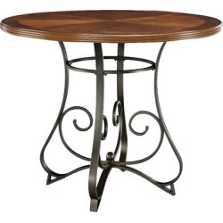 Carter Gathering Table – Metal/Cherry – Oak Grove Collection