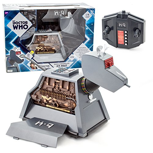 Underground Toys Doctor Who RC Remote Controlled K-9 Mark II Robot Dog 11″ Tall Action Figure