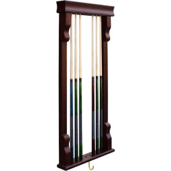 Hathaway Vintage Wall Billiard Pool Cue Rack, Brown