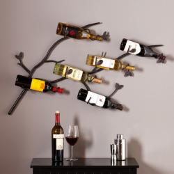 Southern Enterprises Britain 6-Bottle Wall Wine Rack, Multicolor