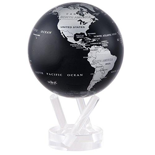 4.5″ Silver and Black Metallic MOVA Globe