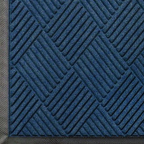 Andersen 208 WaterHog Classic Diamond Polypropylene Fiber Entrance Indoor/Outdoor Floor Mat, SBR Rubber Backing, 10′ Length x 3′ Width, 3/8″ Thick, Navy