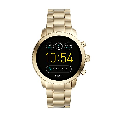 Fossil Q Men's Gen 3 Explorist Stainless Steel Smartwatch, Color: Gold-Tone (Model: FTW4010)