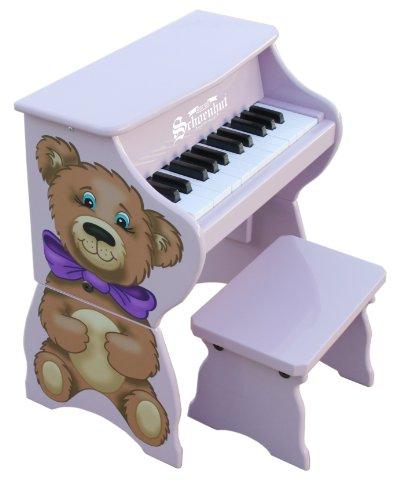Schoenhut 9258TB – 25 Key Teddy Bear Piano Pal (Purple)