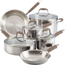 Anolon Advanced Tri-Ply 10-pc. Cookware Set, Brown