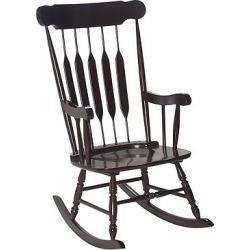 Adult Wooden Rocking Chair – Espresso (Brown)
