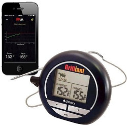 Bluetooth Grillian Smart Cooking Thermometer, Black