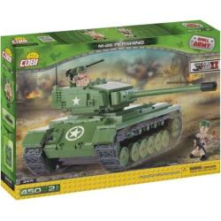 Cobi Small Army M26 Pershing Tank Construction Blocks Building Kit, Multicolor