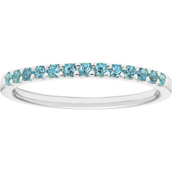 14k White Gold Blue Topaz Stackable Ring, Women's, Size: 8