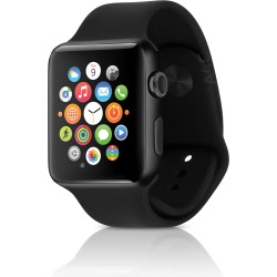 Apple Watch Series 2 w/ 42mm Space Black Stainless Steel Case & Sport Band – Black (Refurbished)