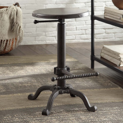 Modena Industrial Adjustable Stool, Grey